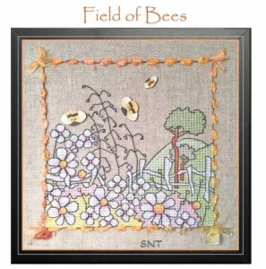 field of bees