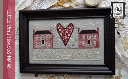 heart sampler w// handpainted rose frame Ewe /& Ewe counted cross stitch kit